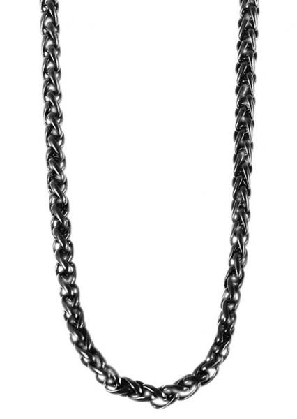 Raptor Edelstahlzopfkette, Länge: 65 cm, Stärke: 3 mm, schwarz