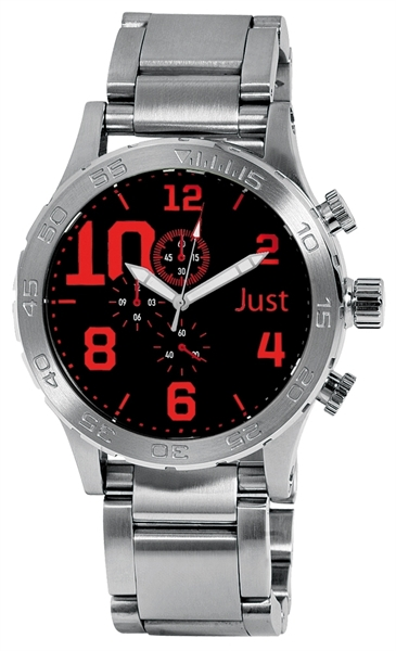 Just 48-S5543 Chronograph Herrenuhr mit Edelstahlband - UVP 169,00€