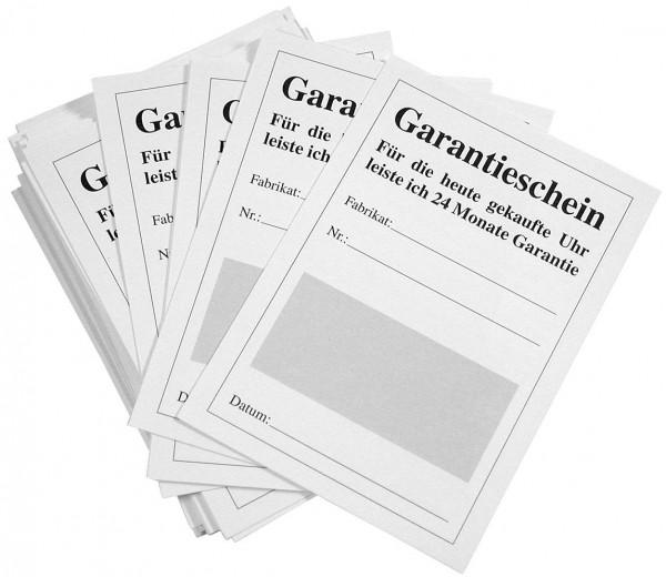 24 monatige Garantiekarten, VE 200 Stk., Länge: 10,5 cm / Breite: 7,5 cm