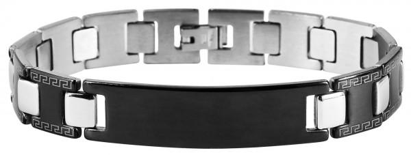 Armband aus Edelstahl in silberfarbig