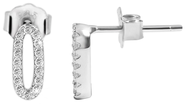 925 Silber Ohrringe, 925/rhodiniert, 0,93g