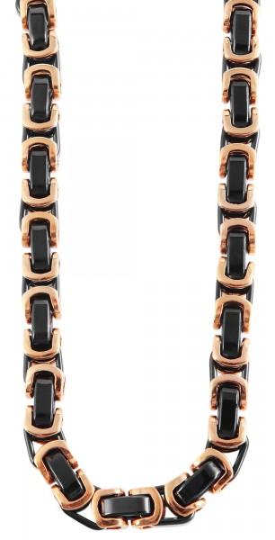 Akzent Edelstahl Unisex Halskette, Länge: 60 cm / Stärke: 8 mm