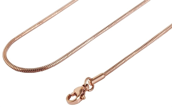 Akzent Edelstahl Damen Schlangenkette, Länge: 60 cm / Stärke: 2 mm