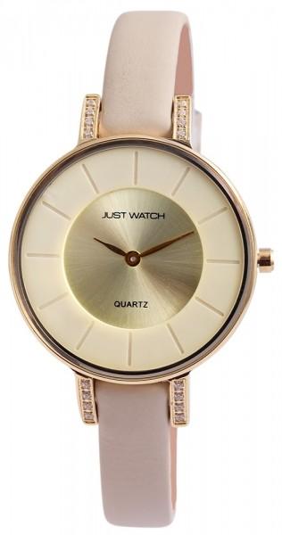 Just Watch JW034 Analog Damenuhr mit Echtlederband - UVP 39,95 €