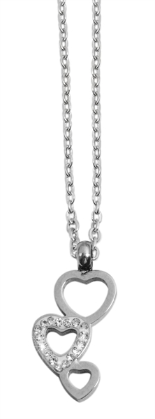 Akzent Edelstahl Halskette mit Anhänger, Länge: 43+5cm