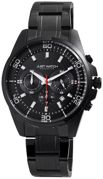 JUST WATCH EXCLUSIVE JWE006 Chronograph Herrenuhr mit Edelstahlband - UVP 89,95€