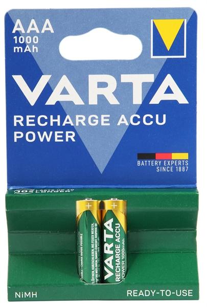 Varta Akku Micro AAA Standard 1,2 Volt - Verpackungseinheit 2 Stück