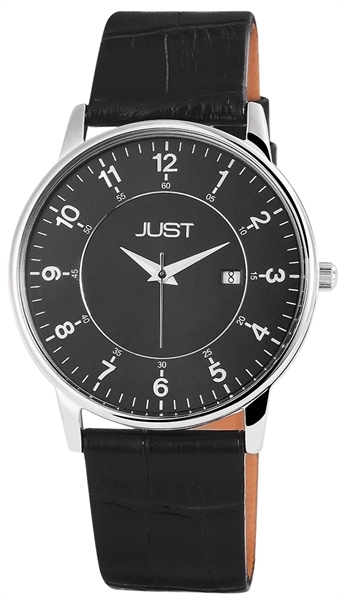 Just JU139 Analog Herrenuhr mit Echtlederband - UVP 69,95 €