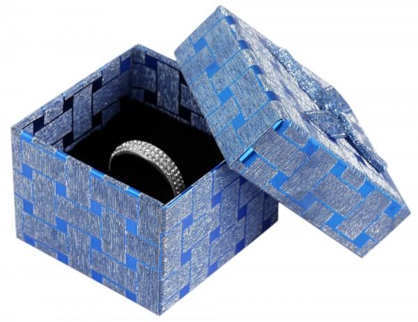 Schmuckbox mit Schleife, VE24, Maße: 5,5 x 5,5 x 4 cm