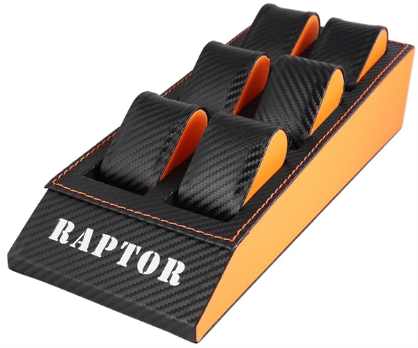 Raptor Display, schwarz/orange, 37 x 33 cm