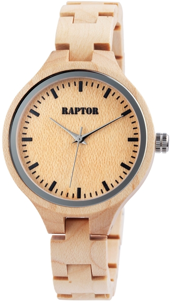 Raptor Analog Herrenuhr mit Holzband - UVP 79,95 €