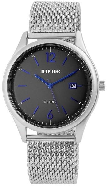 Raptor 2859-0028 Analog Herrenuhr mit Edelstahl-Edelstahlband - UVP 39,95 €