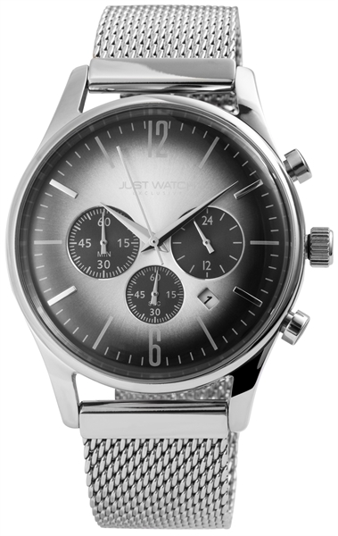 JUST WATCH EXCLUSIVE JWE001 Chronograph Herrenuhr mit Edelstahlband - UVP 89,95€