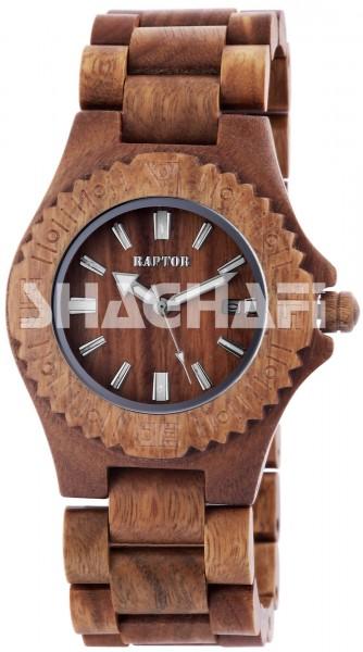 Raptor 2981-0012 Analog Unisexuhr mit Holz-Holzband - UVP 79,95€