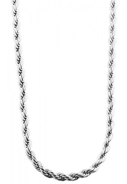 Akzent Edelstahl Damen Kordelkette, Länge: 70 cm / Stärke: 2 mm