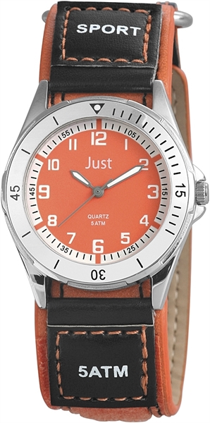 Just JU315 Analog Kinderuhr mit Lederimitatband - UVP 29,95 €
