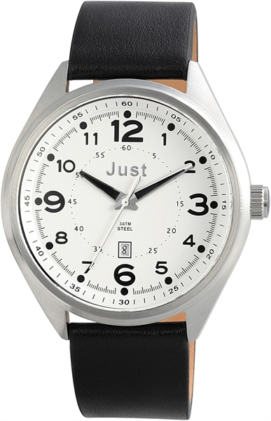 Just 48-S1231 Analog Herrenuhr mit Echtlederband - UVP 39,95€