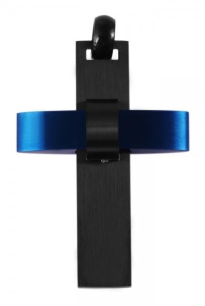 Akzent Edelstahlanhänger in Schwarz, Breite: 32 mm / Höhe: 45 mm