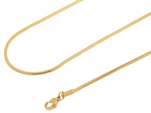 Akzent Edelstahl Damen Schlangenkette, Länge: 45 cm / Stärke: 2 mm