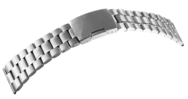 Gliederband Edelstahl Armband in silber poliert