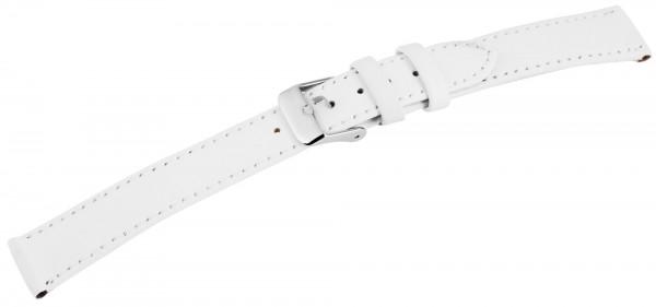 Basic Echtleder Armband in weiß, glatt, flach,, Dornschließe, XL, mit Naht