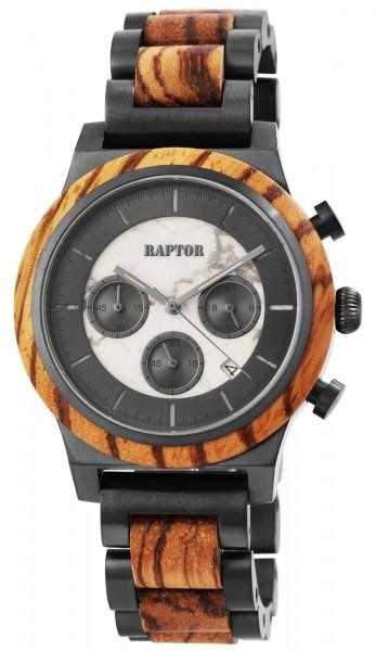 Raptor Limited Herrenchronograph aus Edelstahl und Holz