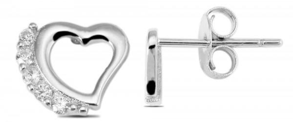 925 Silber Ohrstecker, 925/, 0,9 gr., rhodiniert