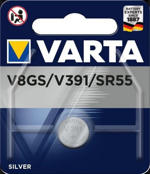 Varta Batterie V8GS Silberoxid Knopfzellen 1,55 Volt - Verpackungseinheit 1 Stück