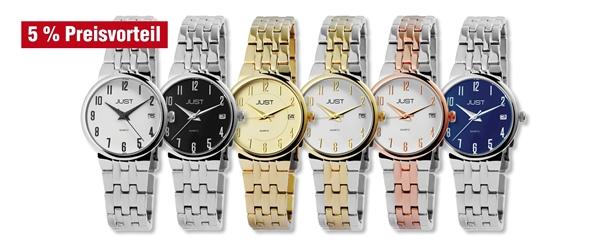 Just Damen Uhren mit Edelstahlband im 6er-Set, 5% Preisvorteil