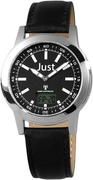 Just JU140 Analog Herrenuhr mit Echtlederband - UVP 59,95 €