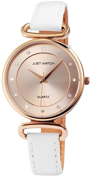 Just Watch JW044 Analog Damenuhr mit Echtlederband - UVP 39,95€