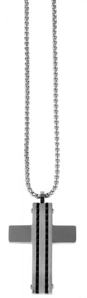 Akzent Edelstahl Damen Erbskette, Länge: 59 cm / Stärke: 2 mm