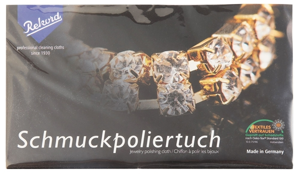 Schmuck Poliertuch 15 x 30 cm, Molton, 100% Baumwolle