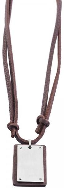 Akzent Echtleder Unisex Lederkette, Länge: 98 cm / Stärke: 4 mm