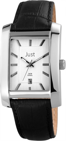 Just JU217 Analog Herrenuhr mit Echtlederband - UVP 69,90€