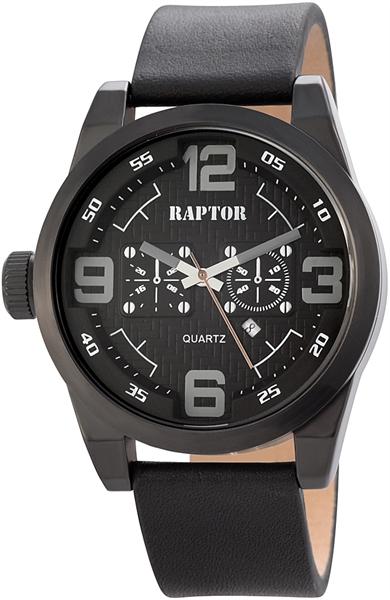 Raptor 2978-0028 Analog Herrenuhr mit Echtleder-Echtlederband - UVP 39,95 €