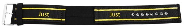 Just Textilunterlegband, 24mm, schwarz/gelb